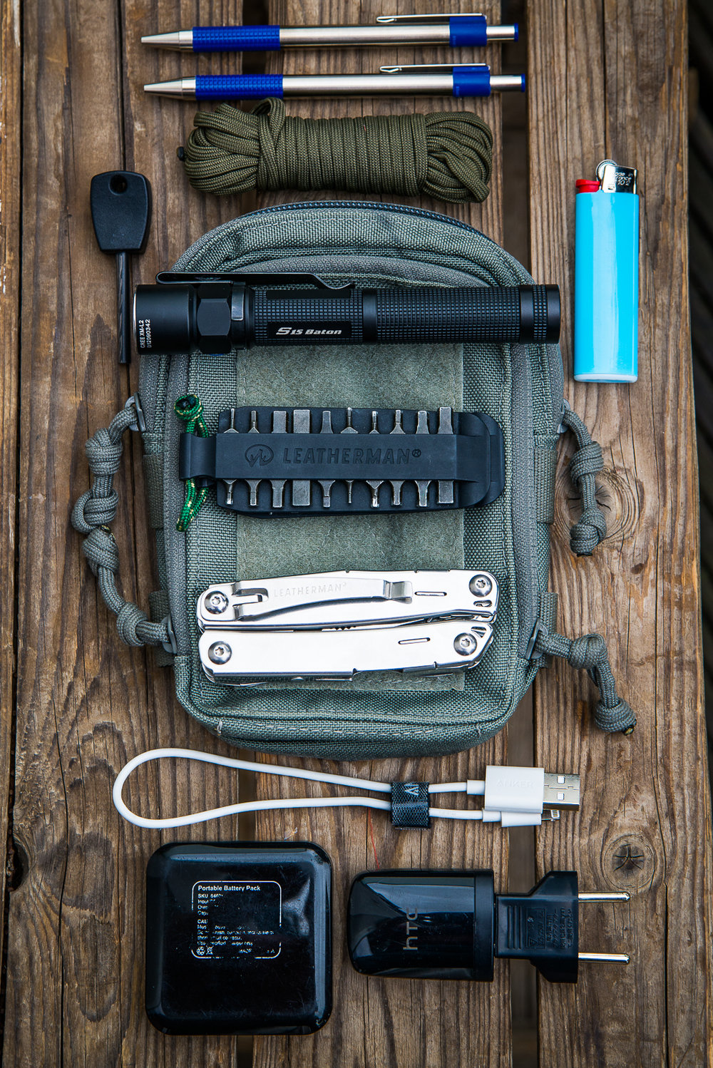 The basic kit I carry in the pouch.