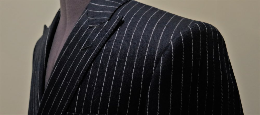 Colmore Tailors | Navy Chalk-stripe Double Breasted Suit