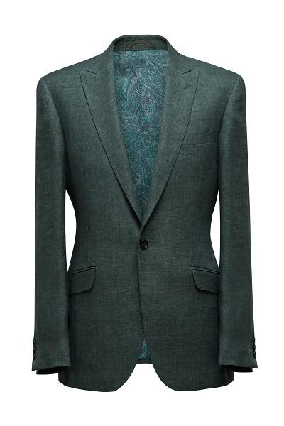 Solbiati Green Linen Jacket | Colmore Tailors