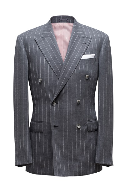 Barberis Pinstripe Double Breasted Suit | Colmore Tailors