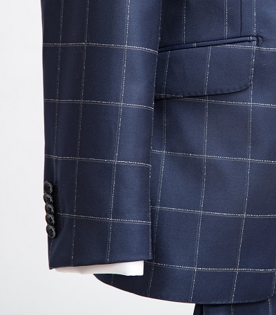Barberis Blue Check Suit | Colmore Tailors