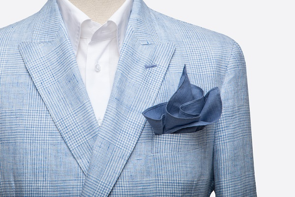 Solbiati Blue Linen Jacket  | Colmore Tailors