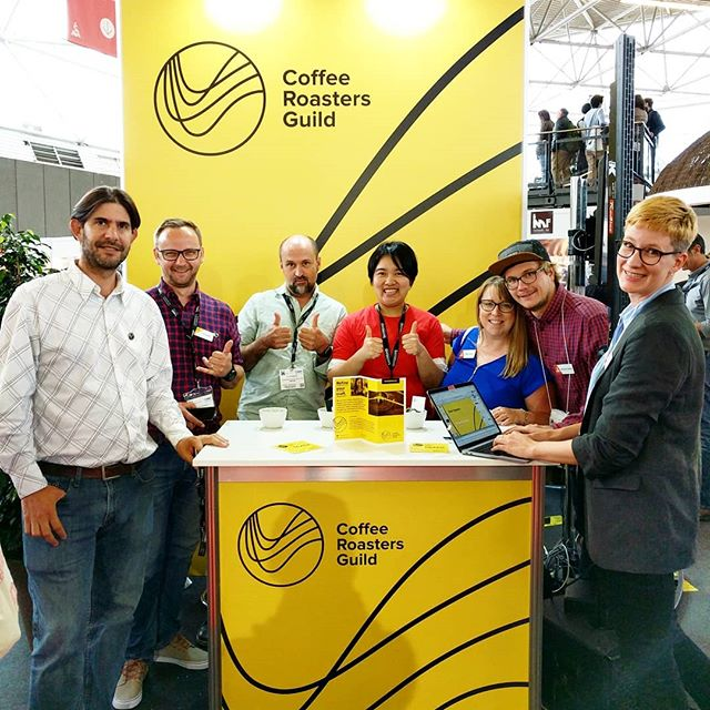 The CRG Mixer at #WOCAmsterdam starts at 4pm! If you're at the show, look for these smiling faces at the Guild Lounge! #worldofcoffee