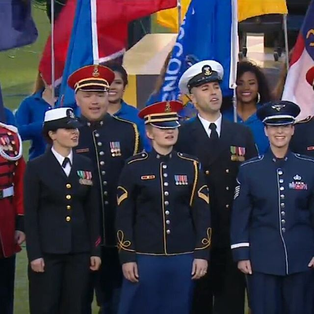 Armed Forces Chorus at Super Bowl 50
