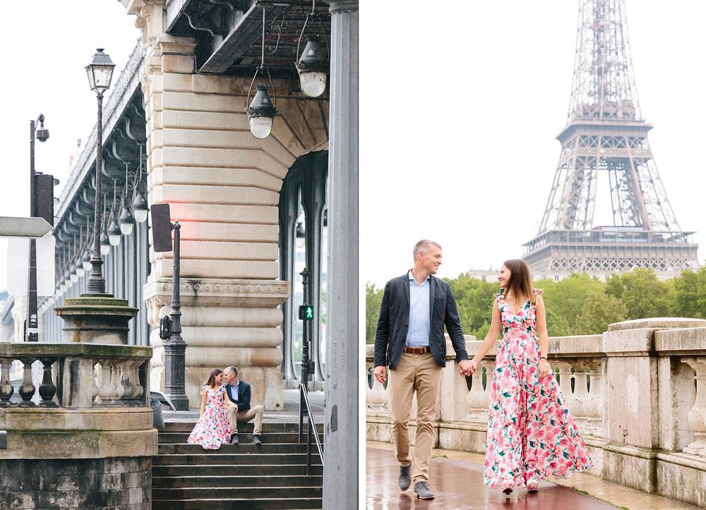 Photographer in Paris Bir Hakeim Couple Session Eiffel Tower IheartParisfr