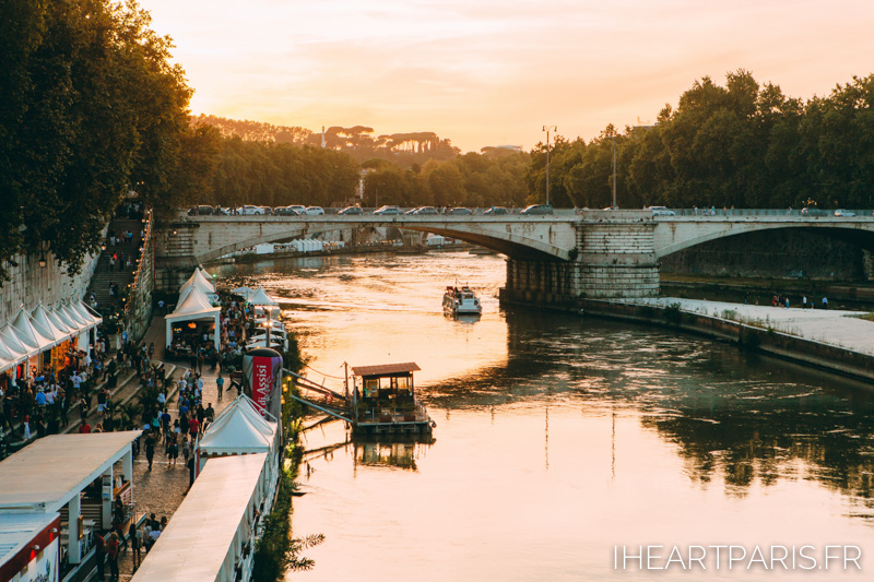 Sunset Over Tiber Rome Summer IheartParis