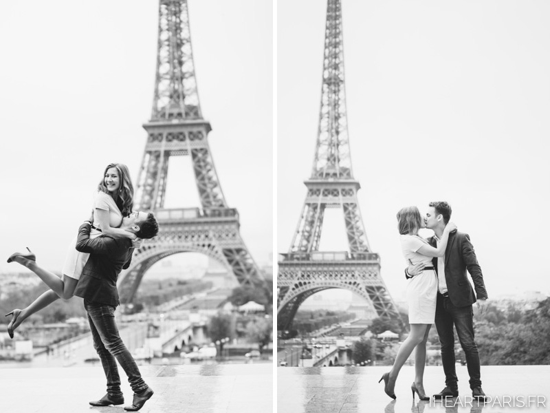 Photographer in Paris Couple Session Eiffel Tower