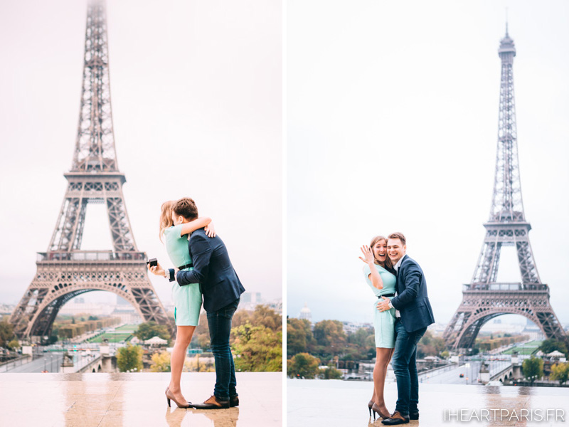 Photographer in Paris Engagement She Said Yes