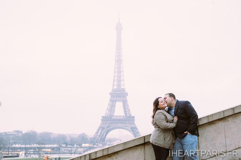 Engagement Paris Session Eiffel Tower IheartParisfr