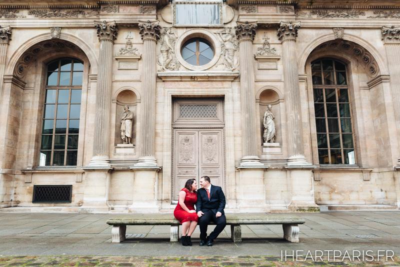 Engagement Paris Session Louvre IheartParisfr