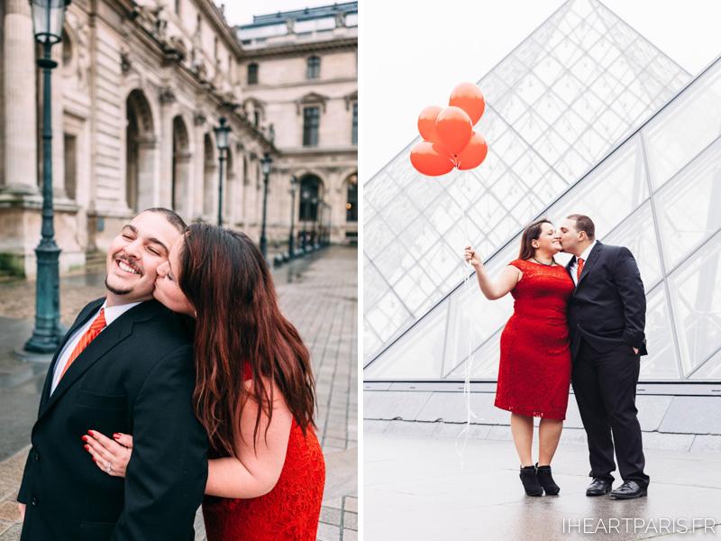 Engagement Photosession Paris Balloons Louvre IheartParisfr