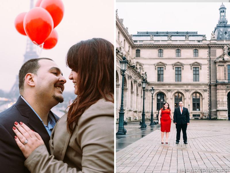 Engagement Photoshoot Paris Eiffel Tower Louvre IheartParisfr