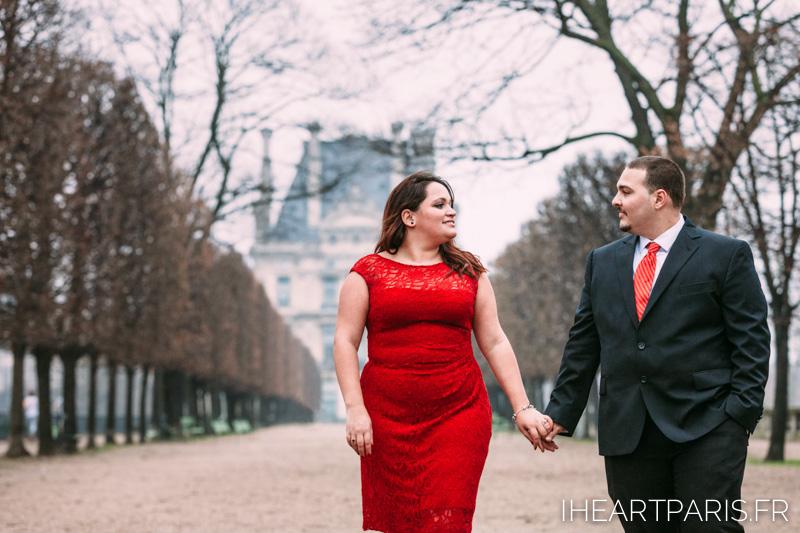 Engagement in Paris Tuileries Garden IheartParisfr