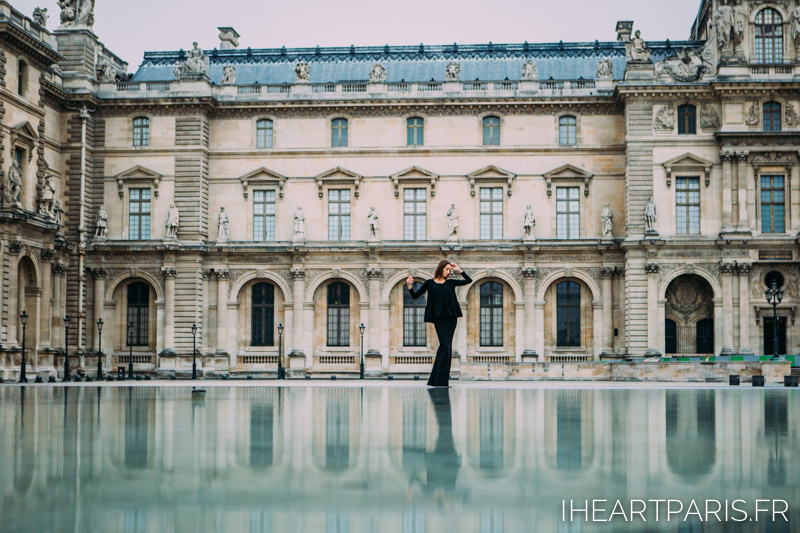 Paris Photographer Fashion Designer Louvre Reflection