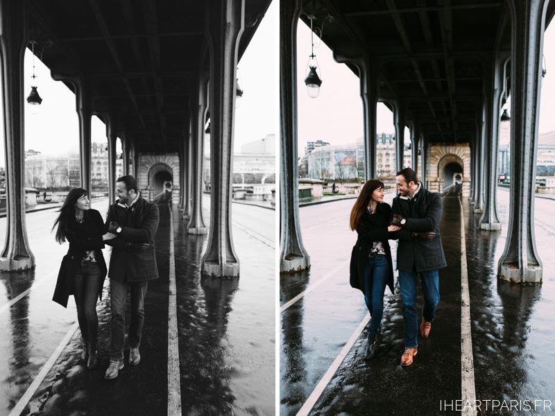 Paris Photographer Bir Hakeim Engagement iheartparisfr