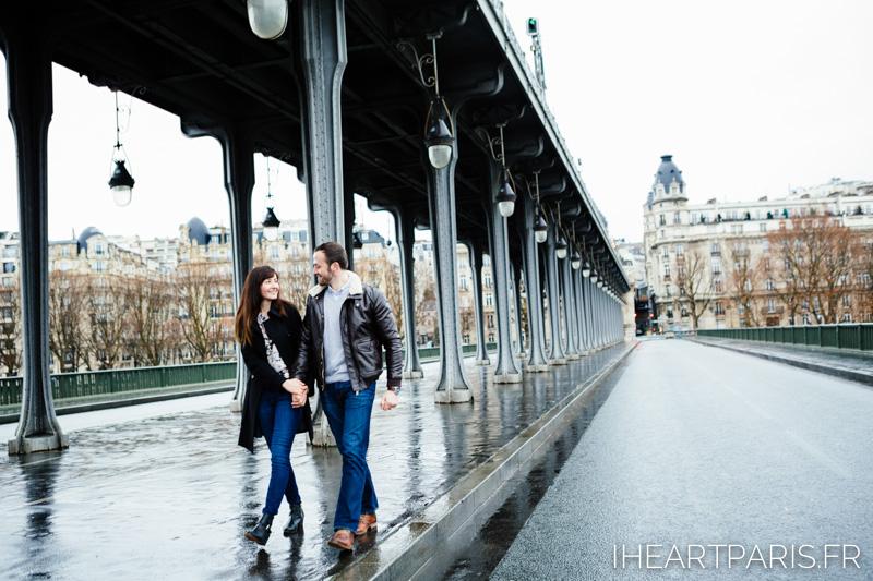 Paris Photographer Engagment Bir Hakeim Couple iheartparisfr