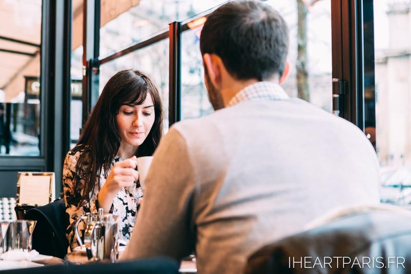 Photographer in Paris Engagement Session Café iheartparisfr