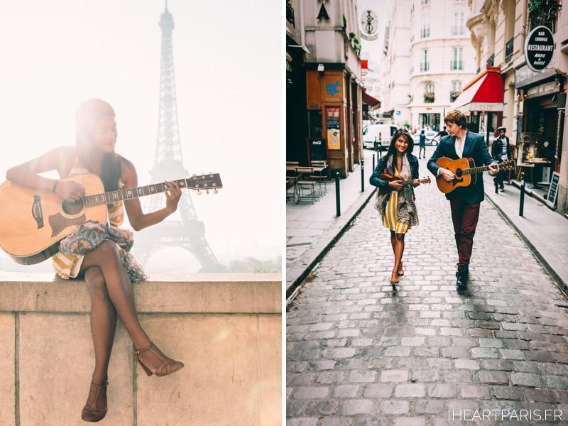 Photographer Paris Couple Session Music IheartParisfr