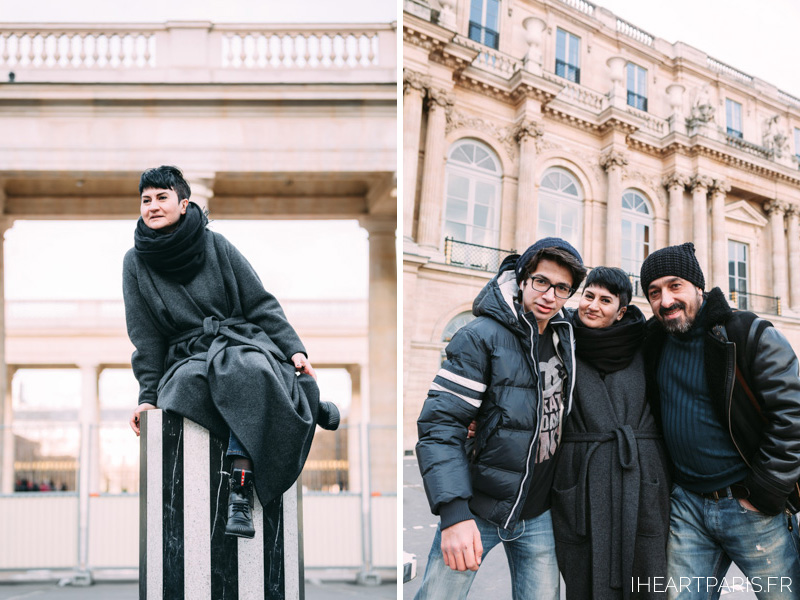 Paris Photographer, Paris Family Photograper, Family Photoshoot in Paris, Palais Royal Columns, IheartParisfr