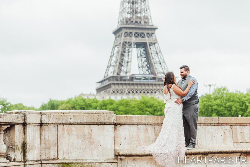 Paris Wedding Photographer, Elopement in Paris, Eiffel Tower, Bir Hakeim, IheartParisfr