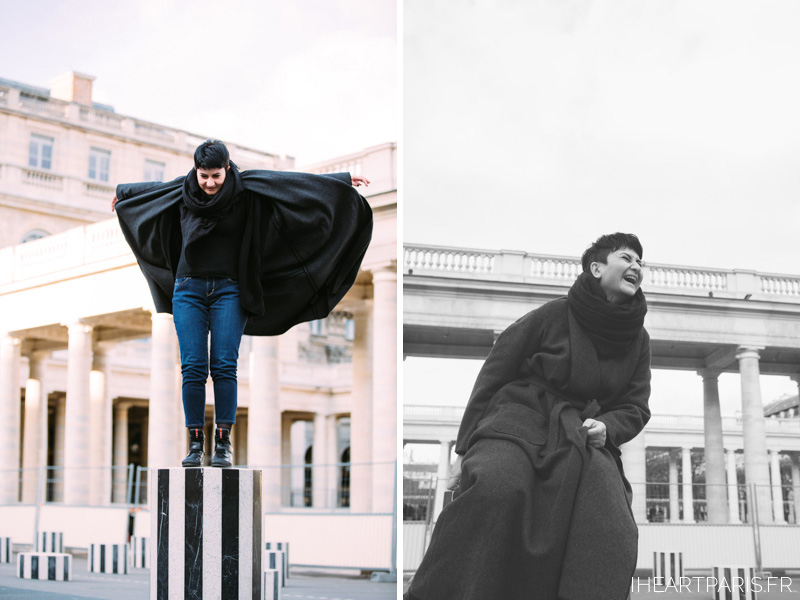 Paris Photographer, Paris Family Photographer, Paris Family Photoshoot, Palais Royal Columns, IheartParisfr