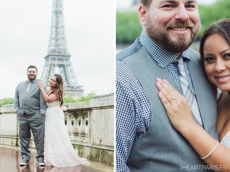 Wedding Photographer Paris, Paris Elopement, Eiffel Tower, Wedding Ring, Bir Hakeim, IheartParisfr