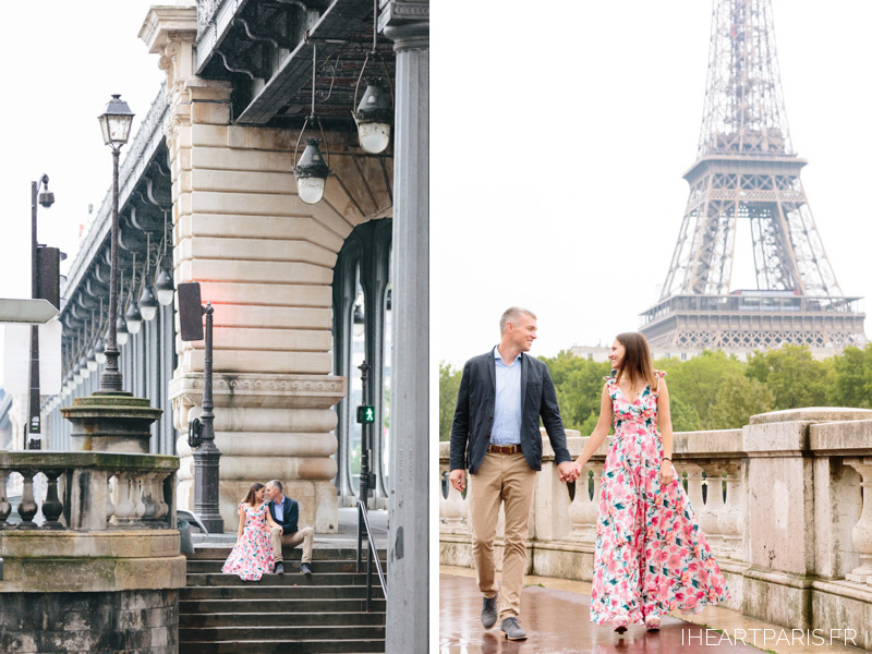 Photographer in Paris Bir Hakeim Couple Session Eiffel Tower IheartParisfr