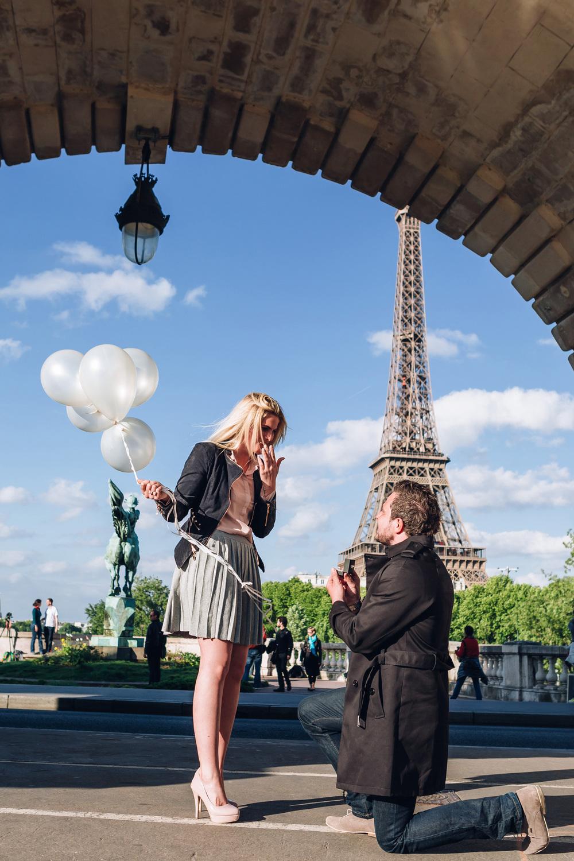 Paris Photographer Surprise Proposal Eiffel Tower Bir Hakeim engagement Iheartparisfr