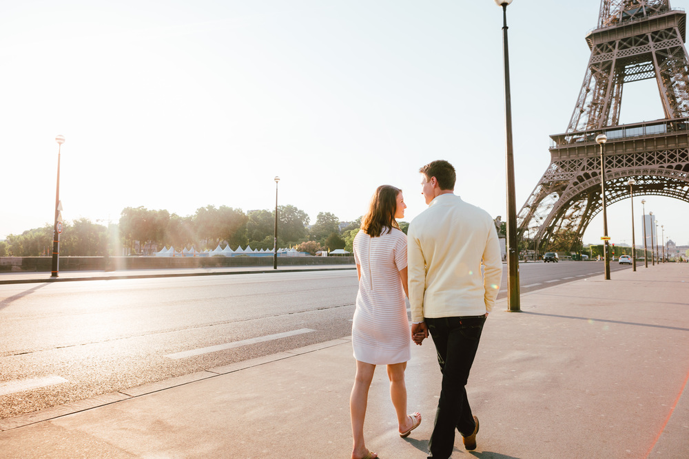 Paris Photographer, Eiffel Tower, Sunrise, Lovestory, Surprise Proposal, Iheartparisfr