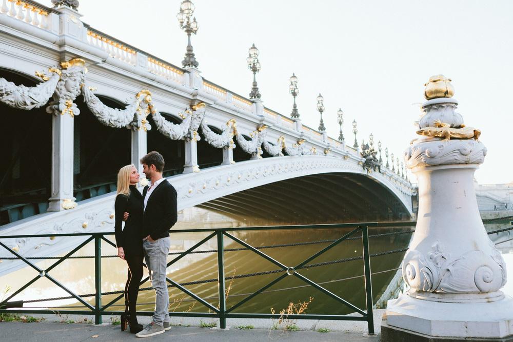 Paris Photographer Lovestory Autumn Pont Alexandre III