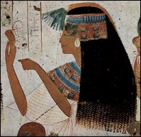 Egyptian woman dry brushing