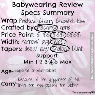 pink-nova-cherry-chapstick-kiss-woven-wrap-babywearing-review