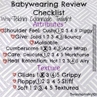 Woven Wrap checklist twilight