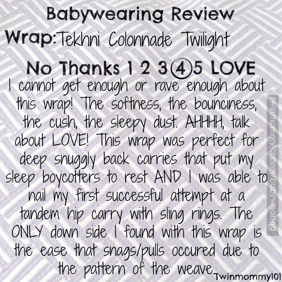 Woven Wrap main summary twilight