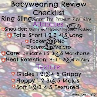 ring sling review checklist sweet pea