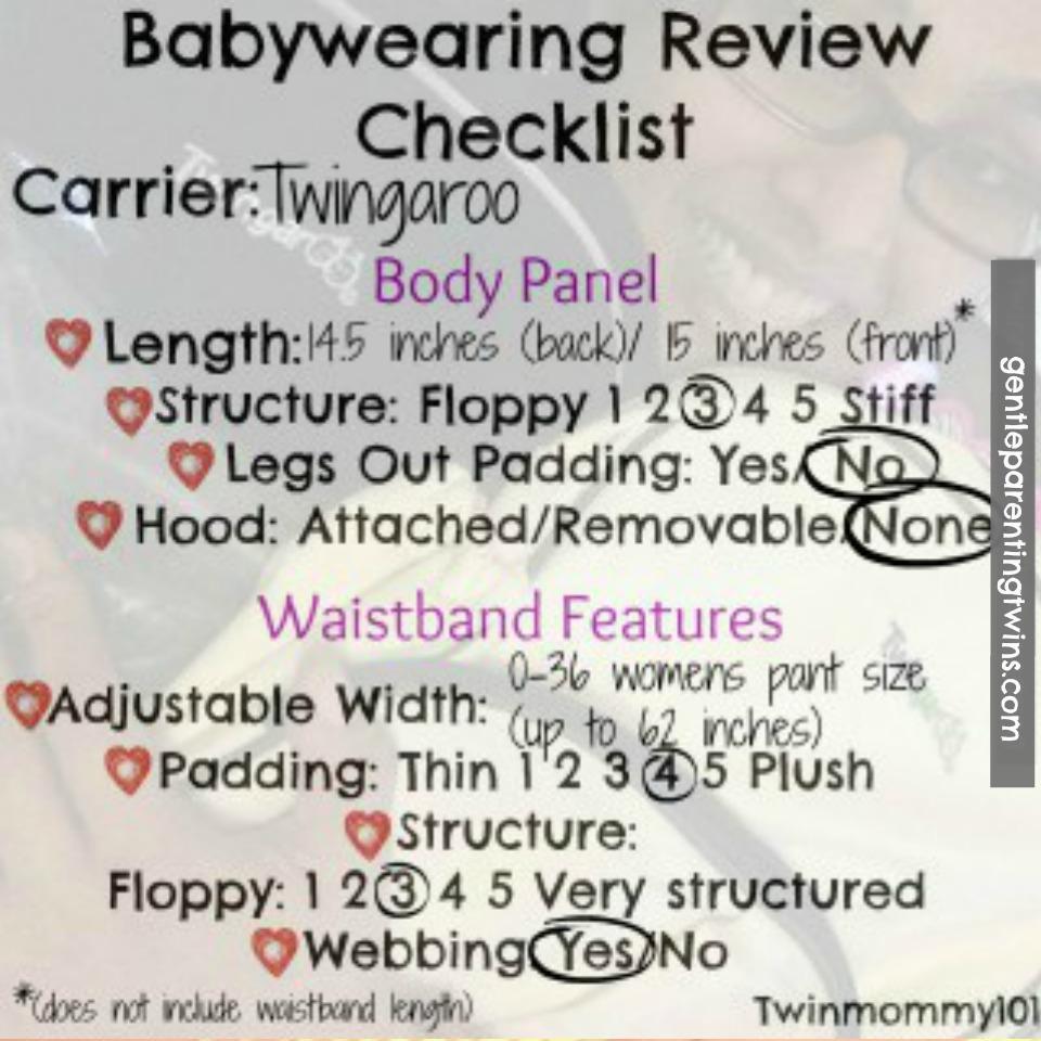 Twingaroo Twin Baby Carrier Gentle Parenting Twins