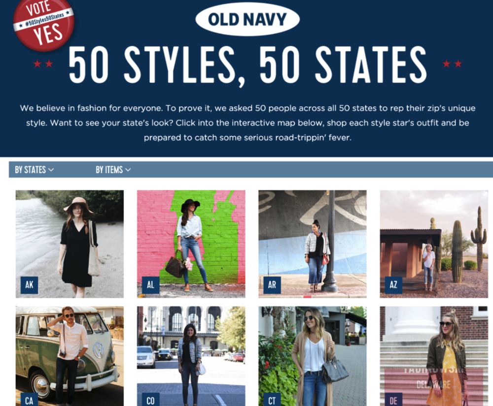 OLD NAVY: 50 STYLES, 50 STATES INFLUENCER CAMPAIGN
