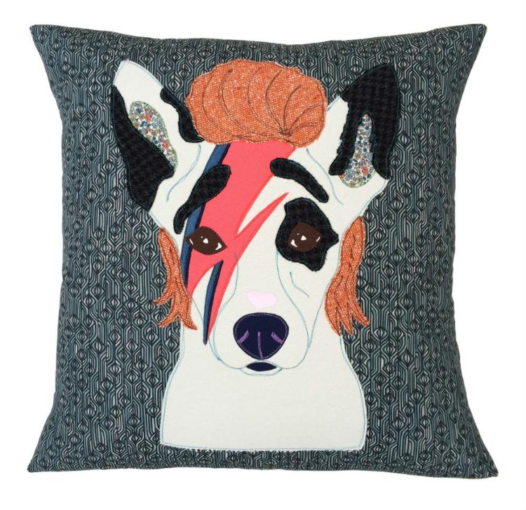 Bowie Dog cushion by  @Mialovesjay