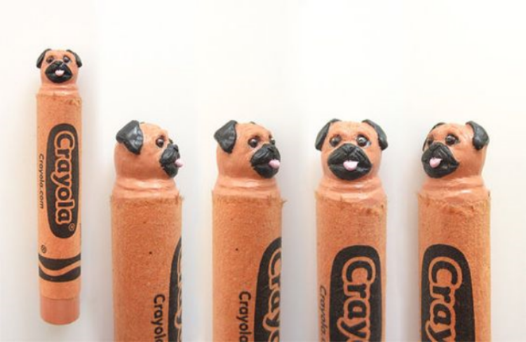 Bespoke carved doggy crayon by Carved Crayons