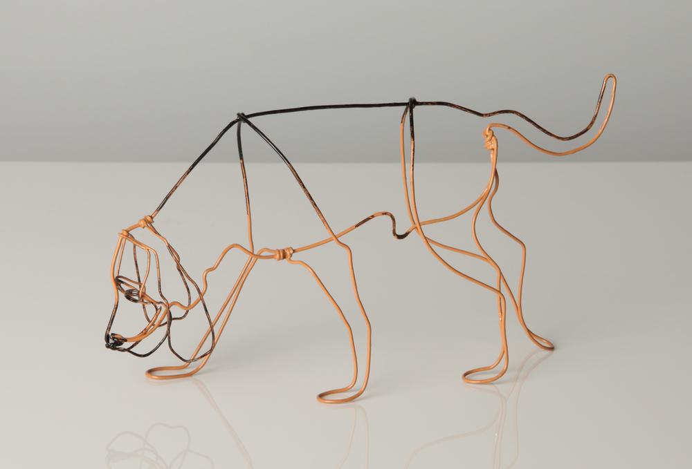 Bloodhound Wire Sculpture by Bridget Baker.