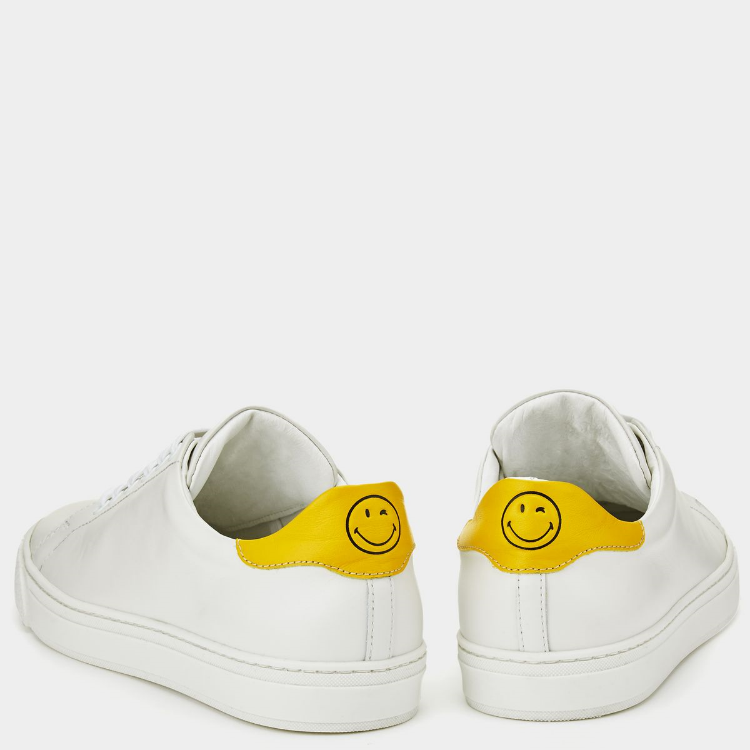 Cheer up your walk with these cheeky nappa leather tennis shoes from Anya Hindmarch