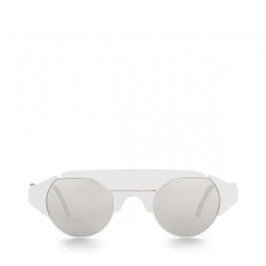 Loewe Ashley Sunglasses in white. Also available in Black and Havana.
