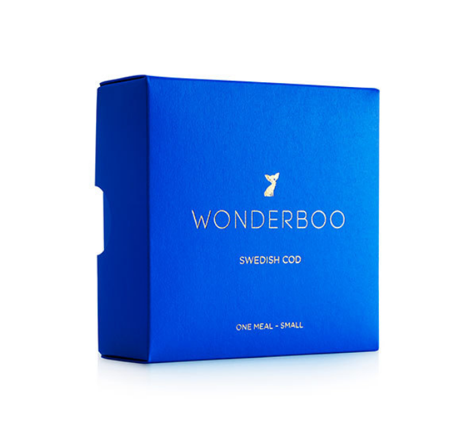 WONDERBOO dog food.