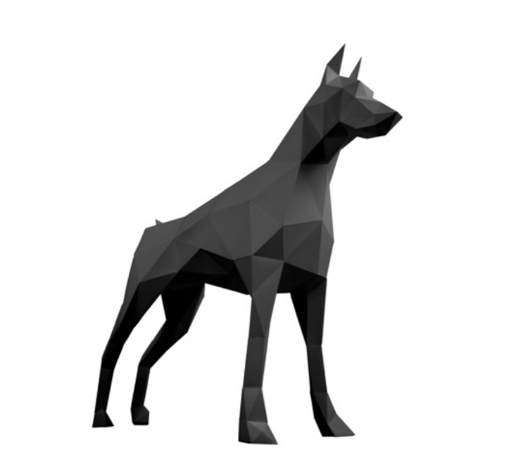 Doberman from Papertrophy.