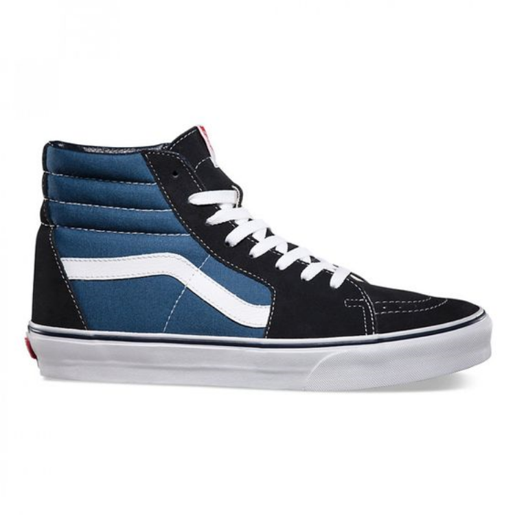 VANS Sk8-Hi in Navy. An oldie but a goodie and not just for skatehounds.