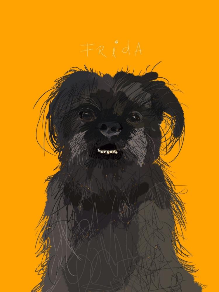 Frida by Amy Turner, digital artwork drawn with finger.