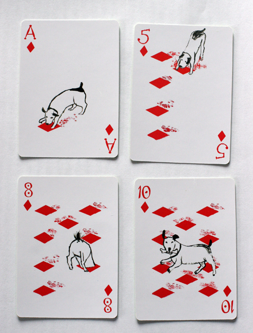 Pack of Dogs Playing Cards by John Littleboy.