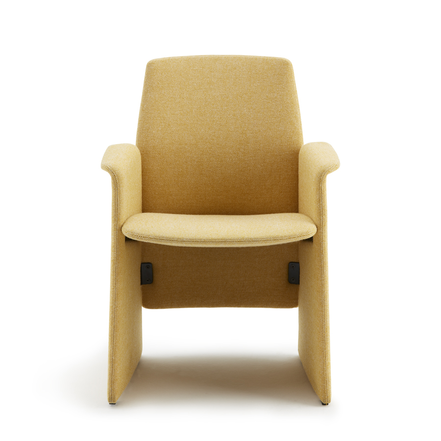 Haworth Collection Downtown Side Chair by Poltrona Frau - Panel Base