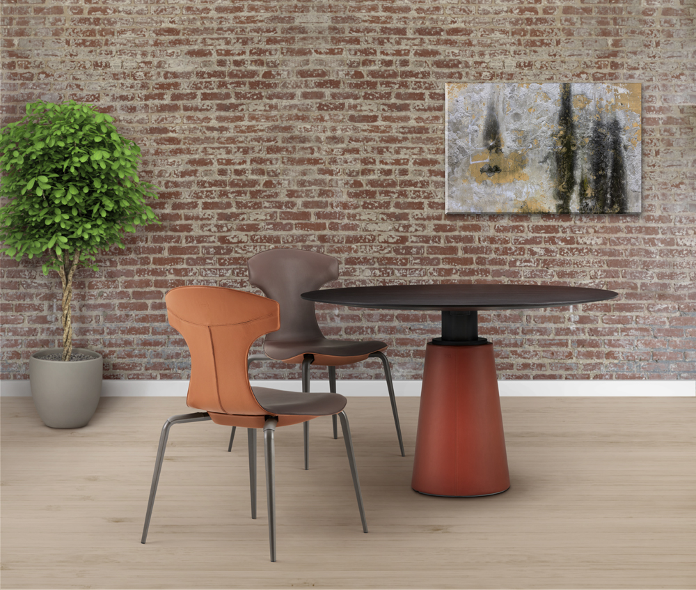 Haworth Collection Mesa Due Table by Poltrona Frau - Leather Wrapped