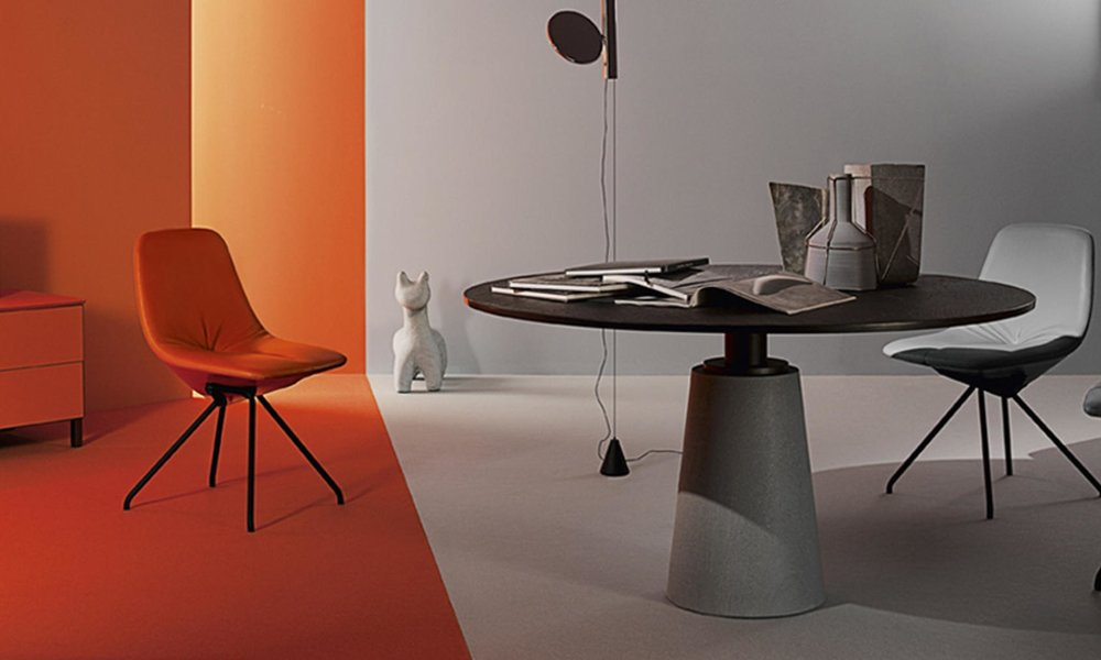 mHaworth Collection Mesa Due Table by Poltrona Frau - Solid Surface 2